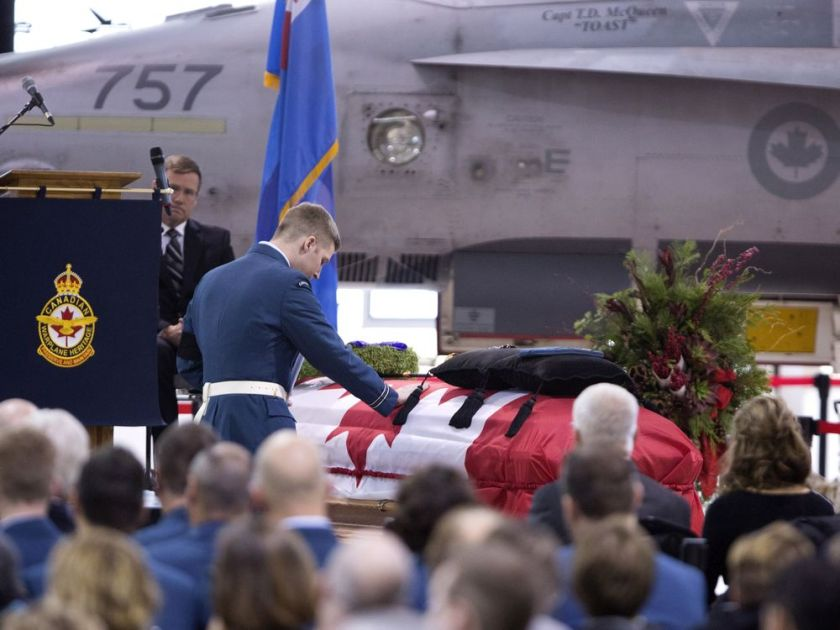 CF18 Cold Lake Crash Funeral